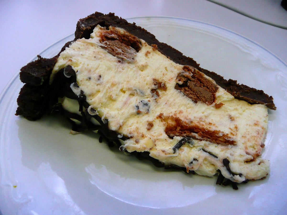 Tim Tam cheese cake slice