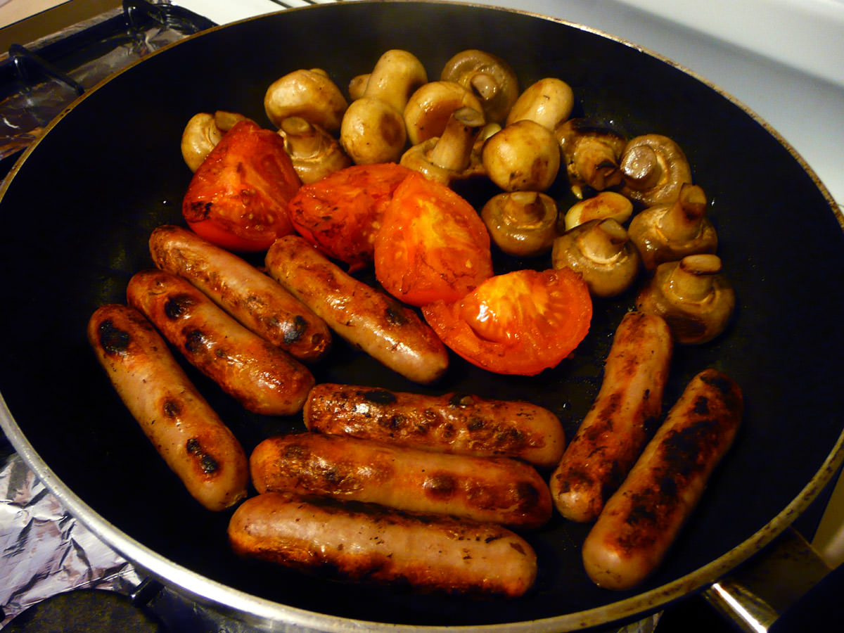 Fry-up in the pan