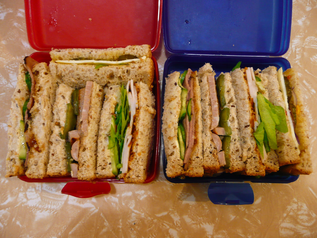 Hers and hers sandwiches
