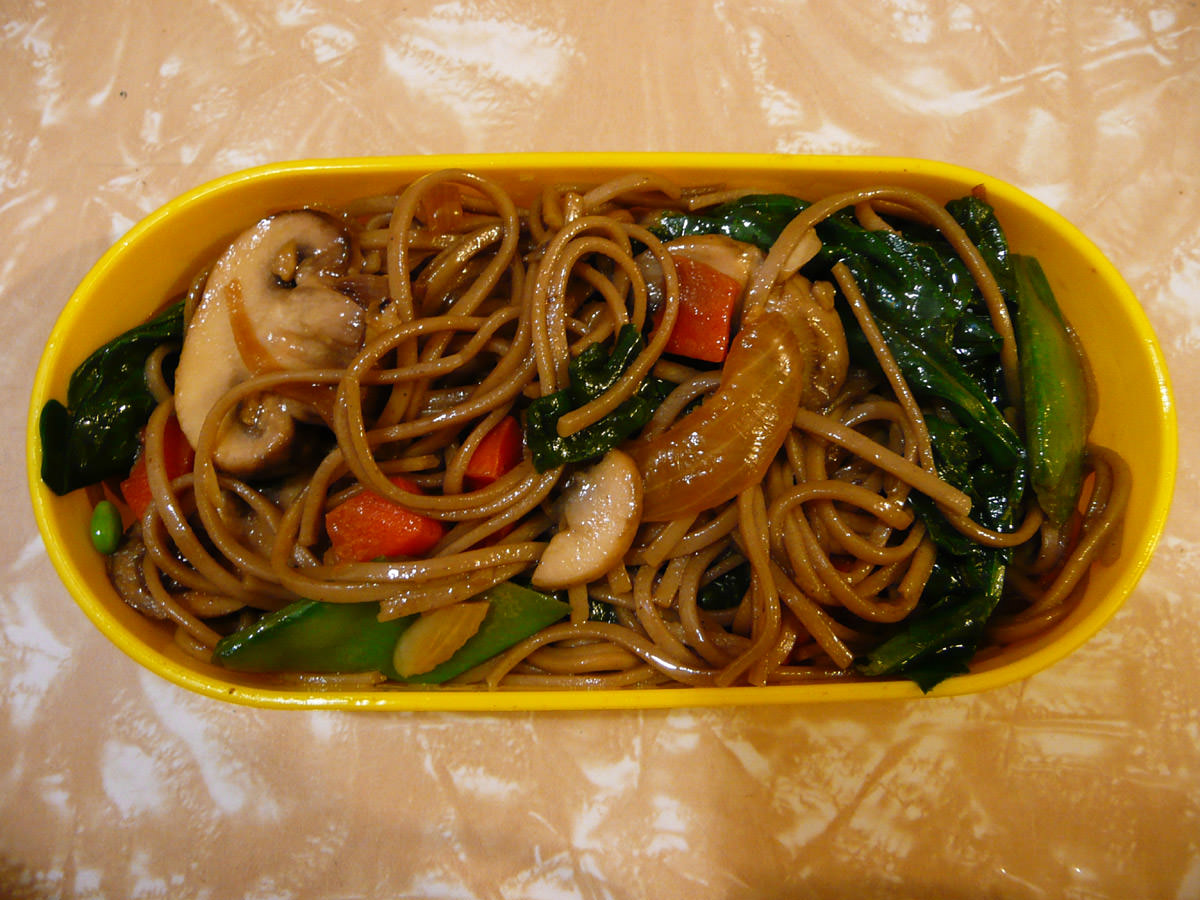 From my bento - stir-fried soba noodles