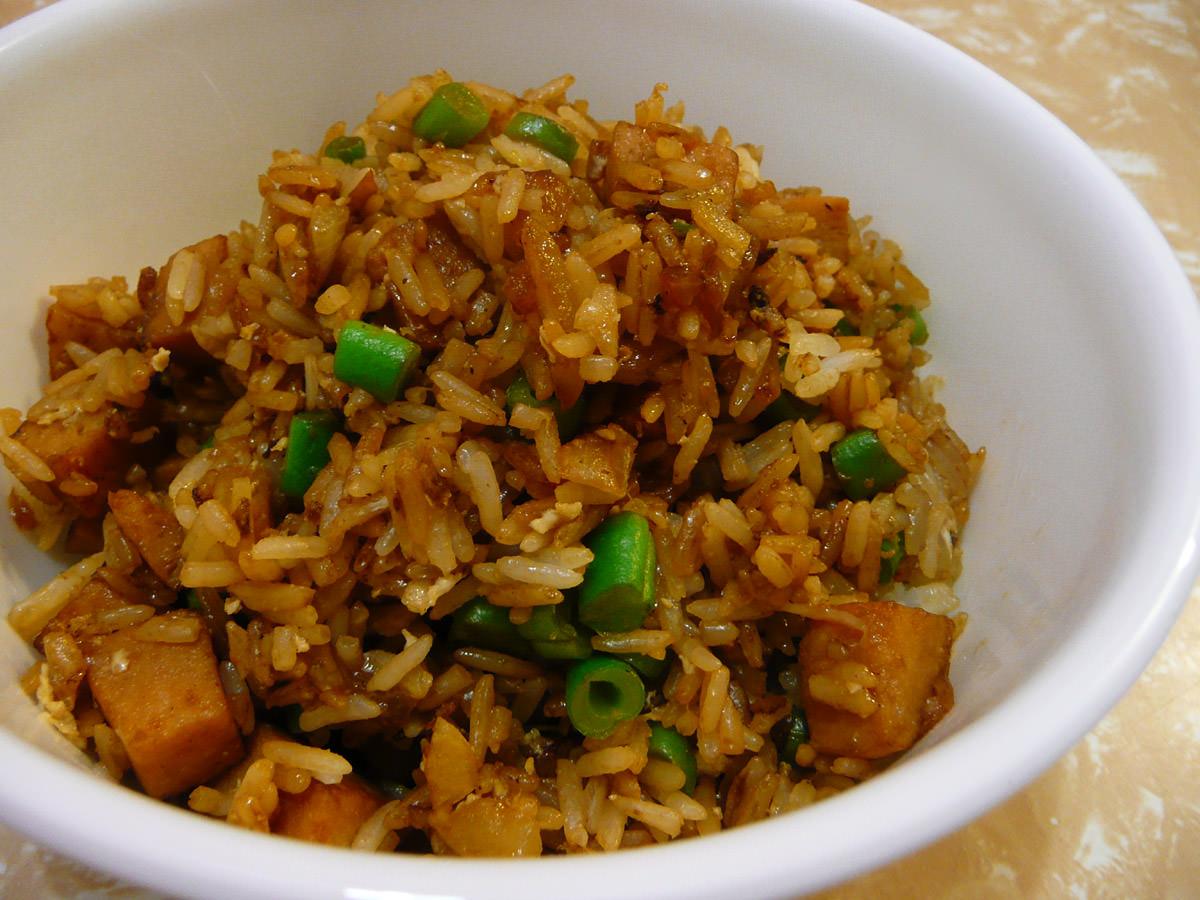 Fried rice with turkey SPAM