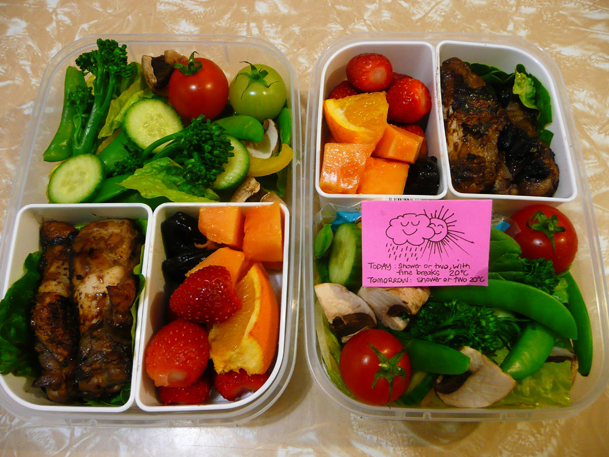 Wednesday Bento Teriyaki Chicken Wingettes Salad And Fruit The