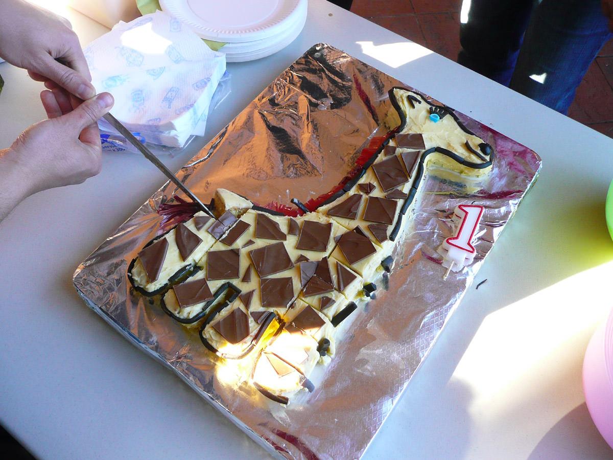 How to carve up a giraffe cake