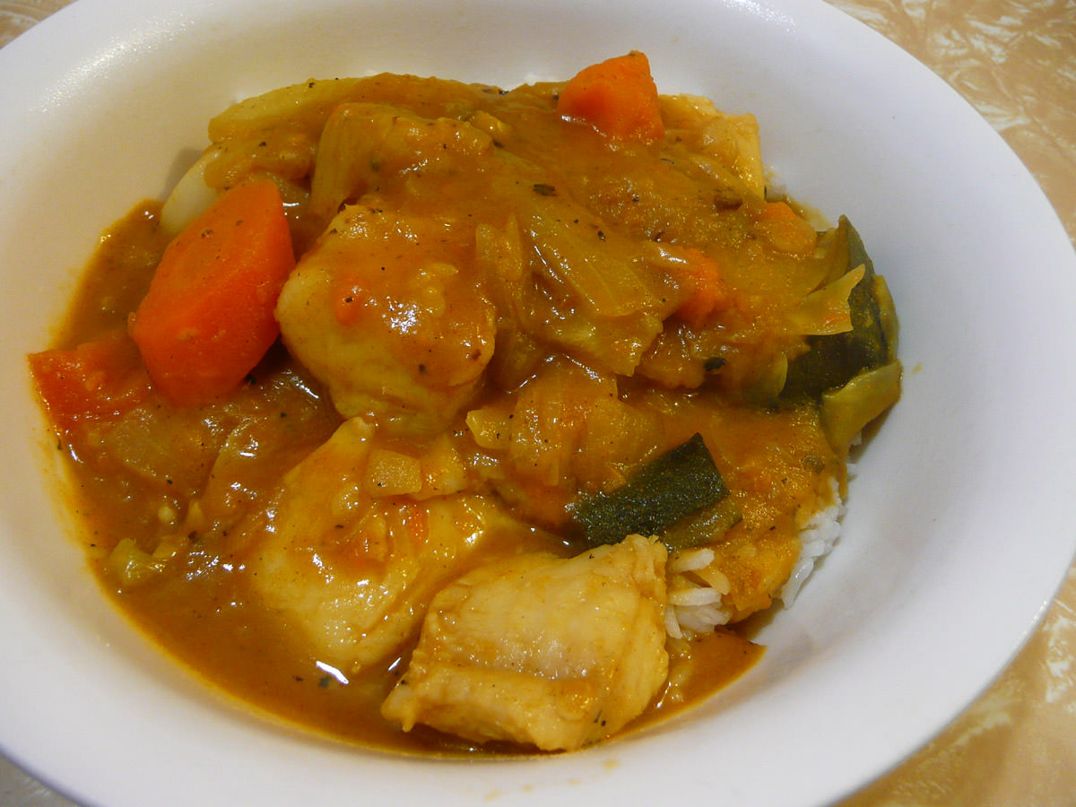 Fish and vegetable curry