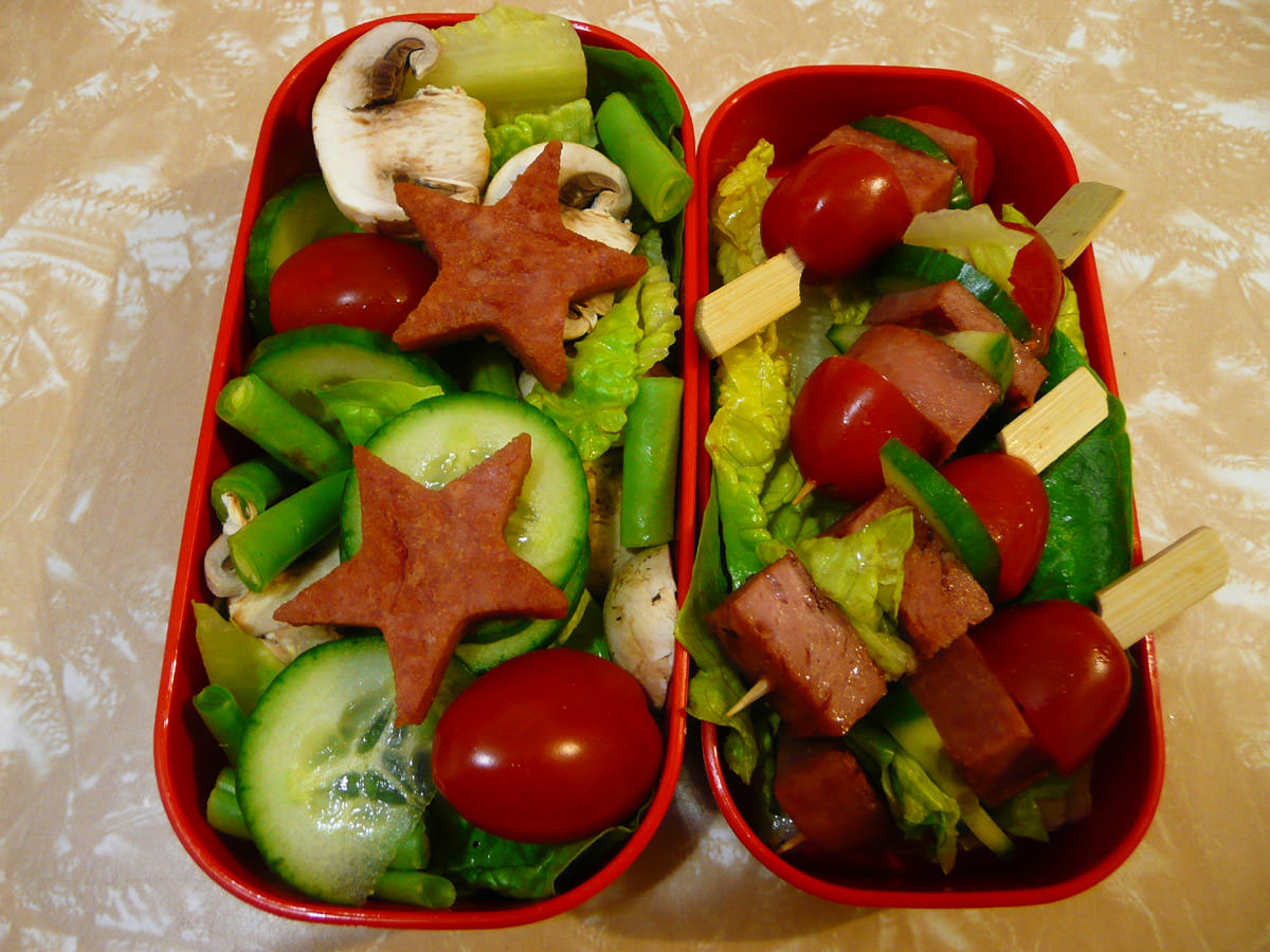 My Friday bento - SPAM and salad