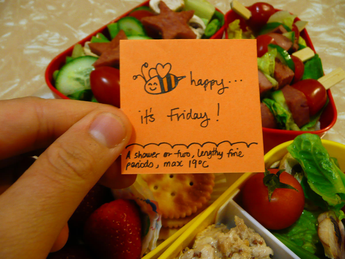 Jac's Friday bento note