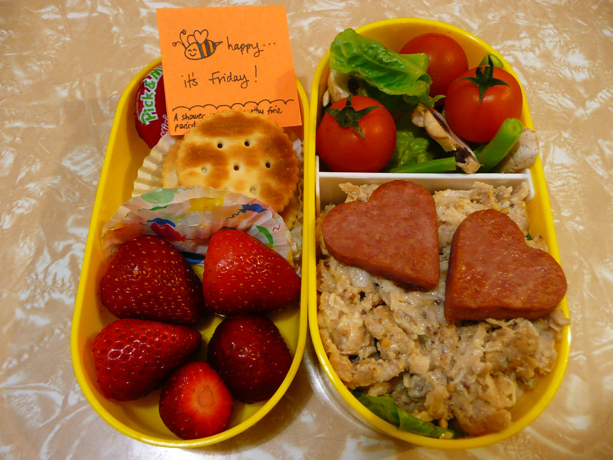 Jac's Friday bento (a bit of a mixed bag!)