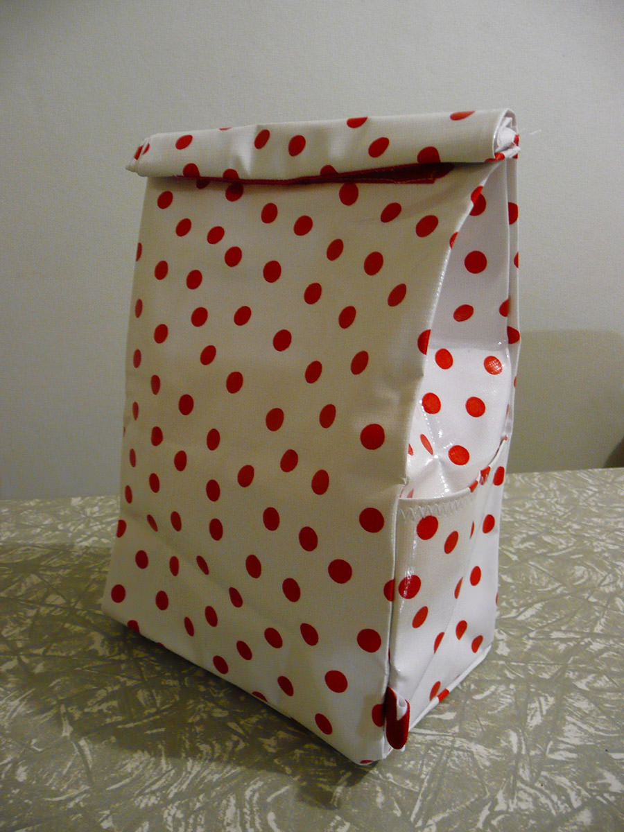 My new oilcloth lunch bag.