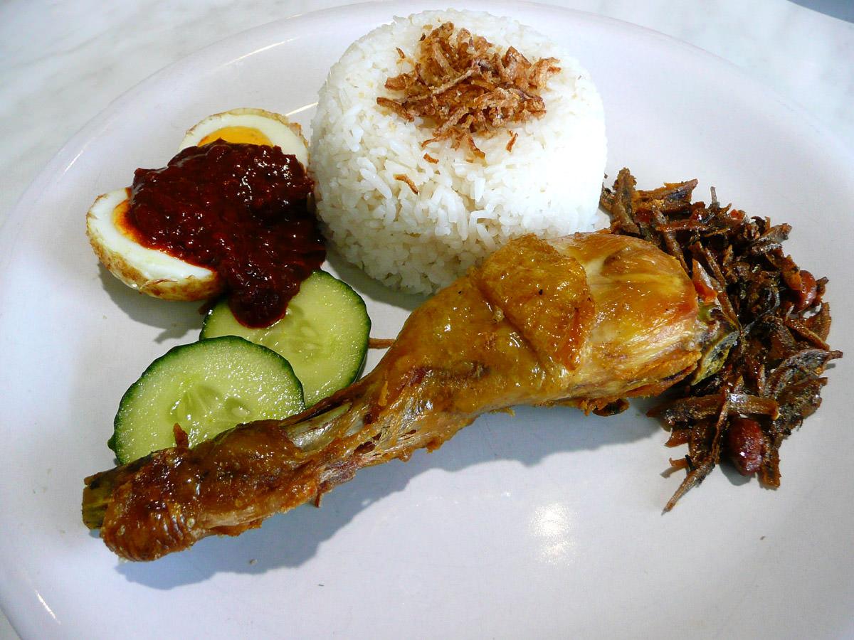 Nasi lemak from Mak'Indos Cafe