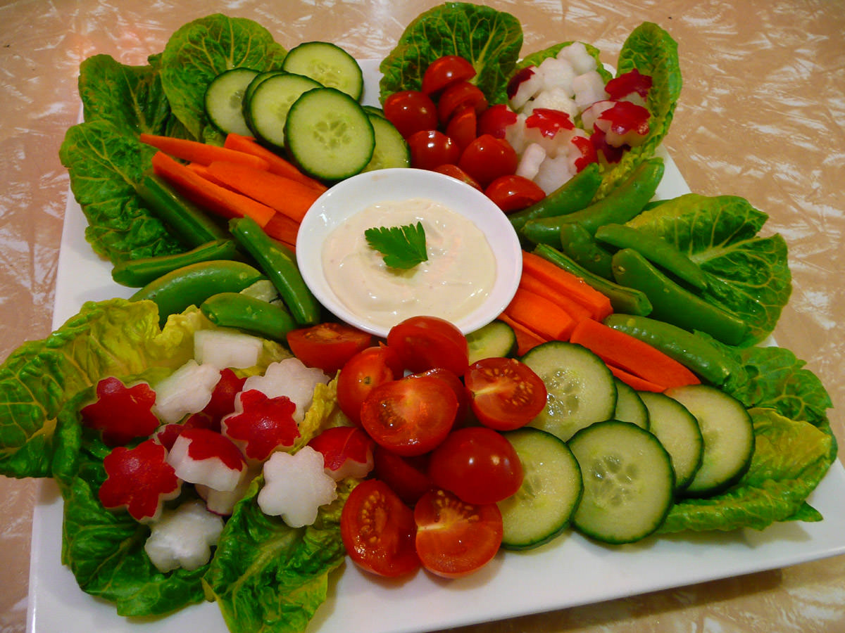 Vegetables with aioli
