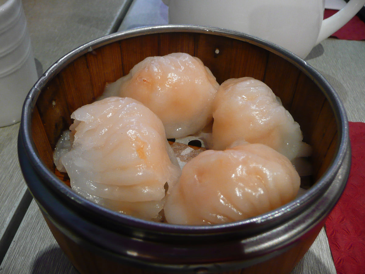 Har gow - steamed prawn dumplings