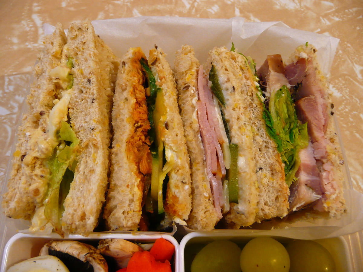 Sandwiches close-up