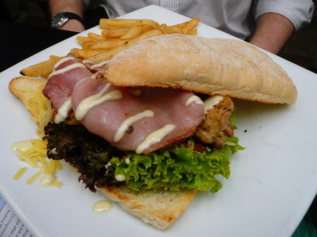 Morrocan chicken panini