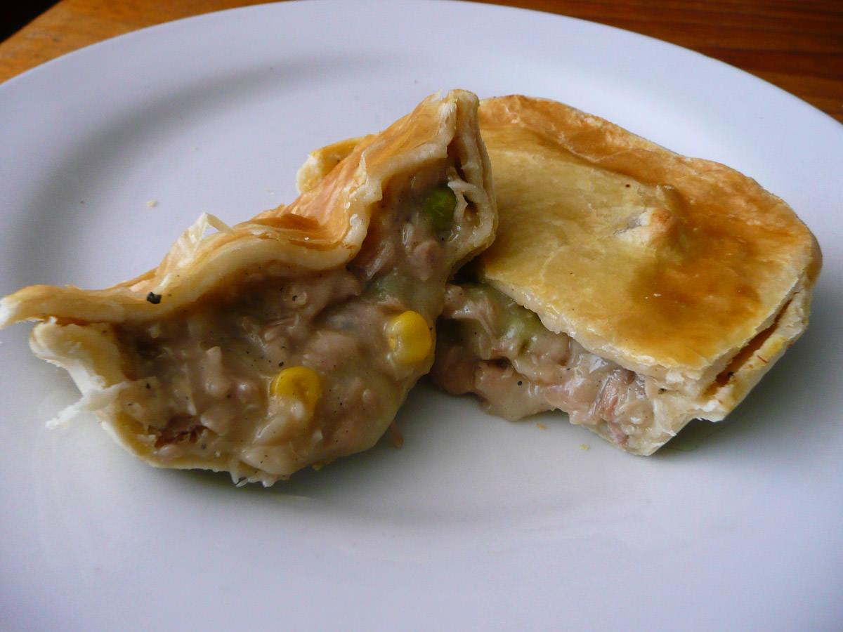 Chicken pie innards