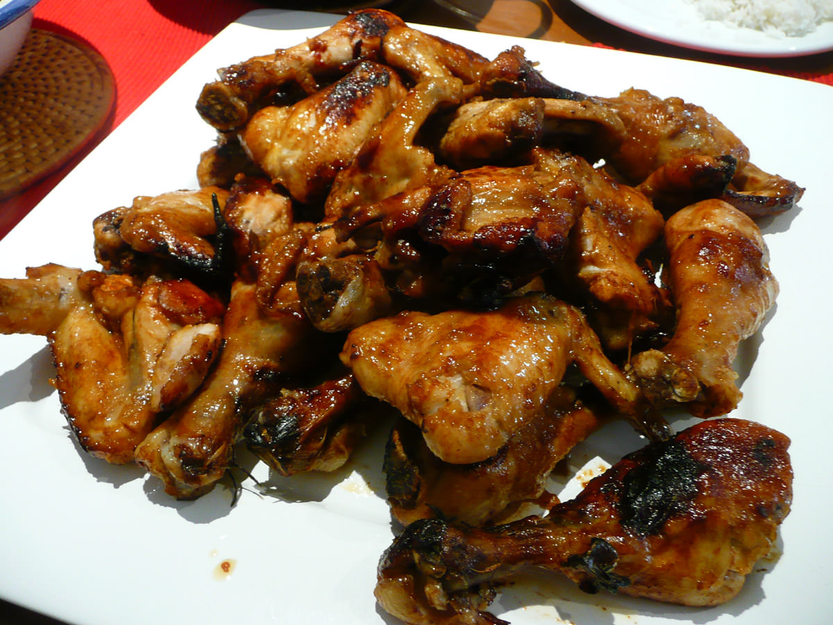 Marinated chicken wings and drumsticks