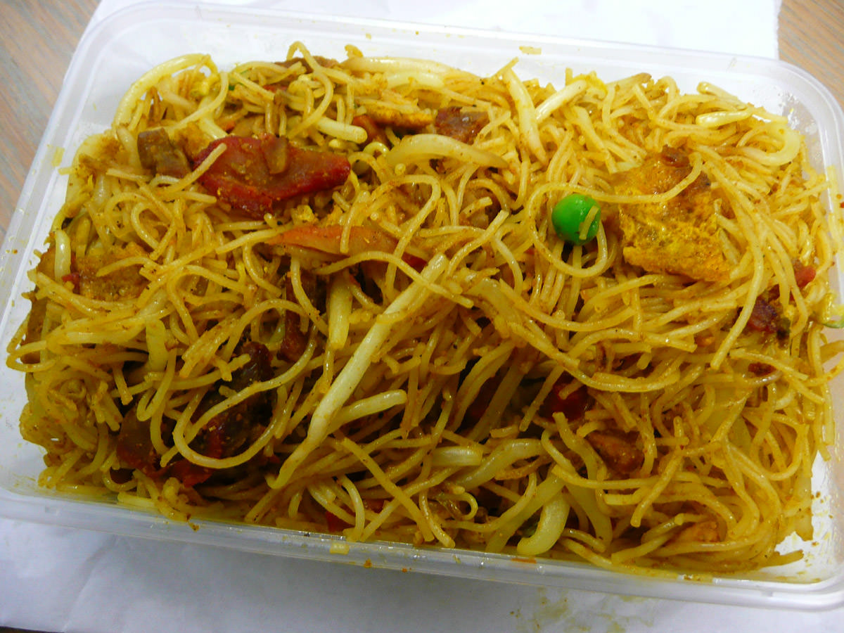 Dry curry noodles from 88 Royal