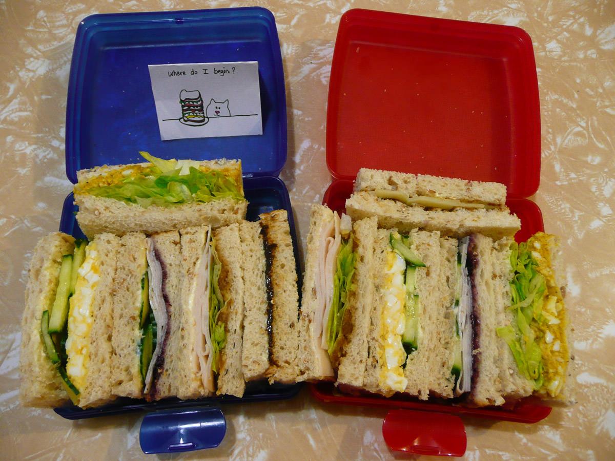 Our sandwich bento