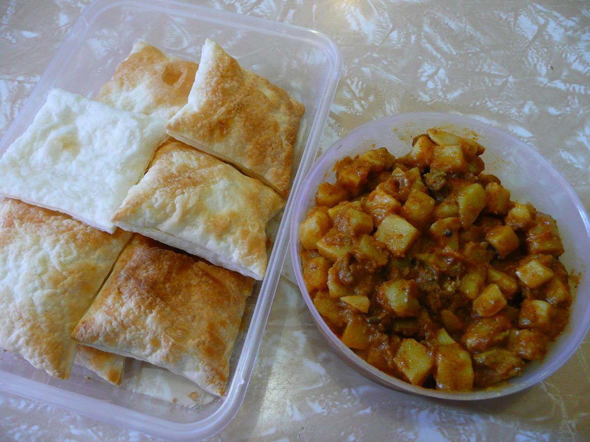 Mum's cheat's curry puffs