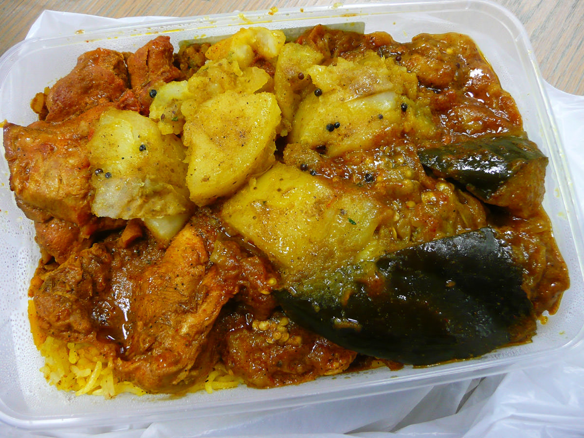 Two meat curry combo from IGA