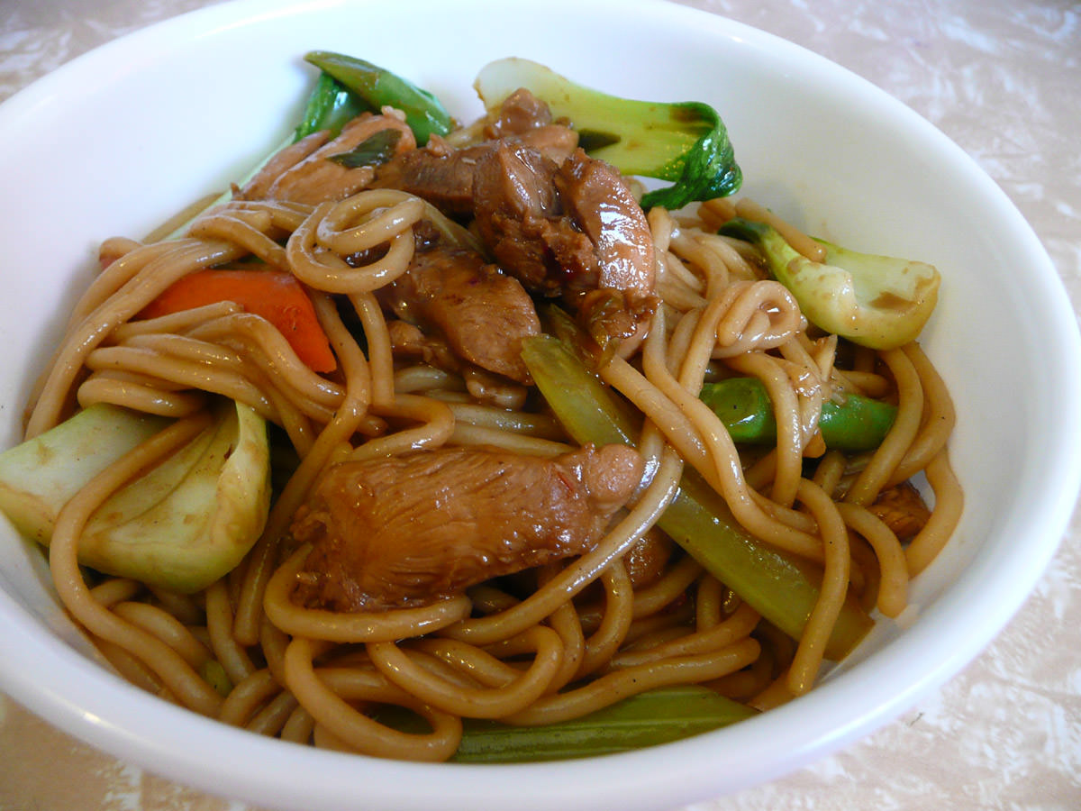 Chicken and vegetable noodle stir-fry