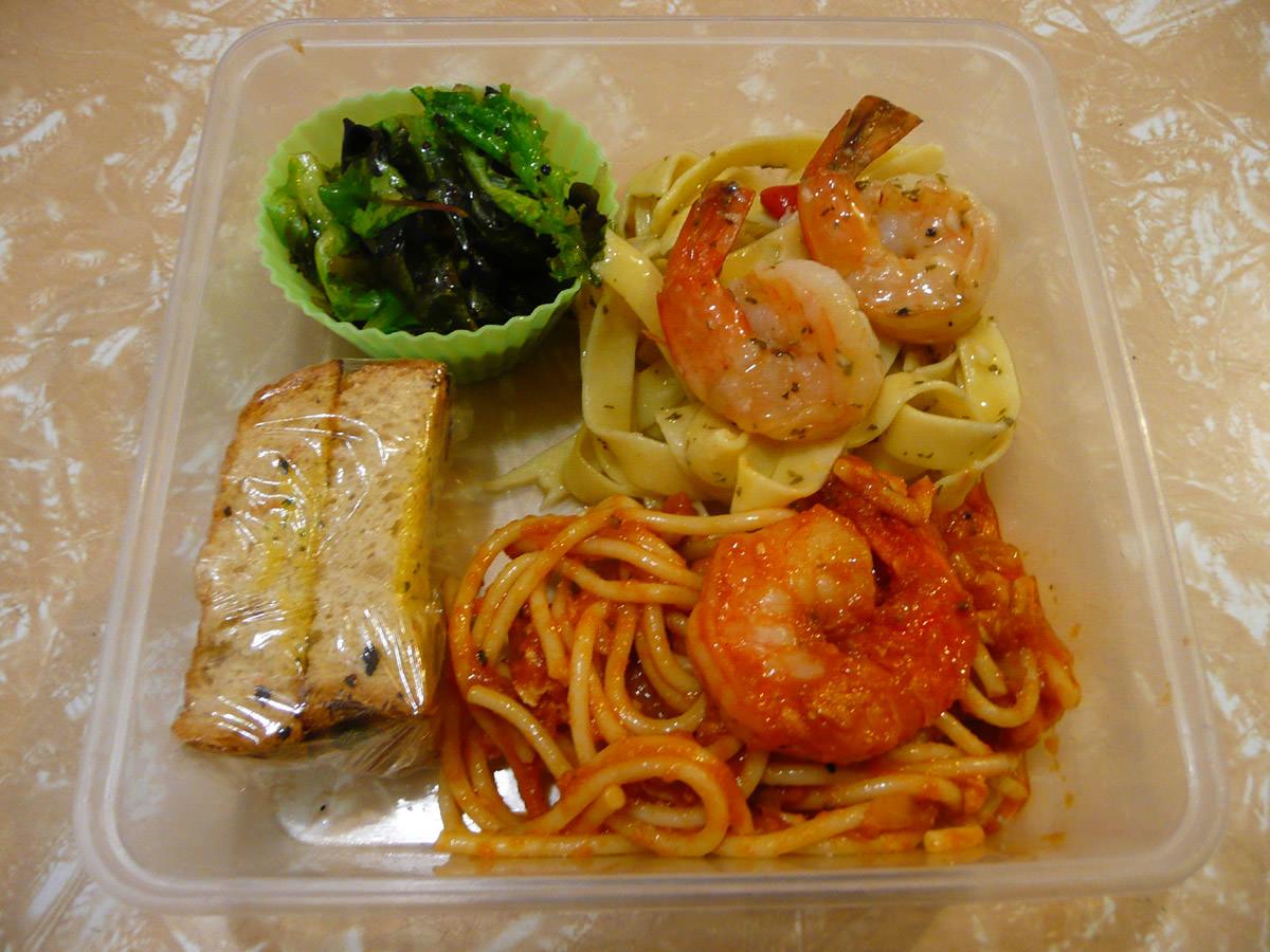My Italian leftovers bento