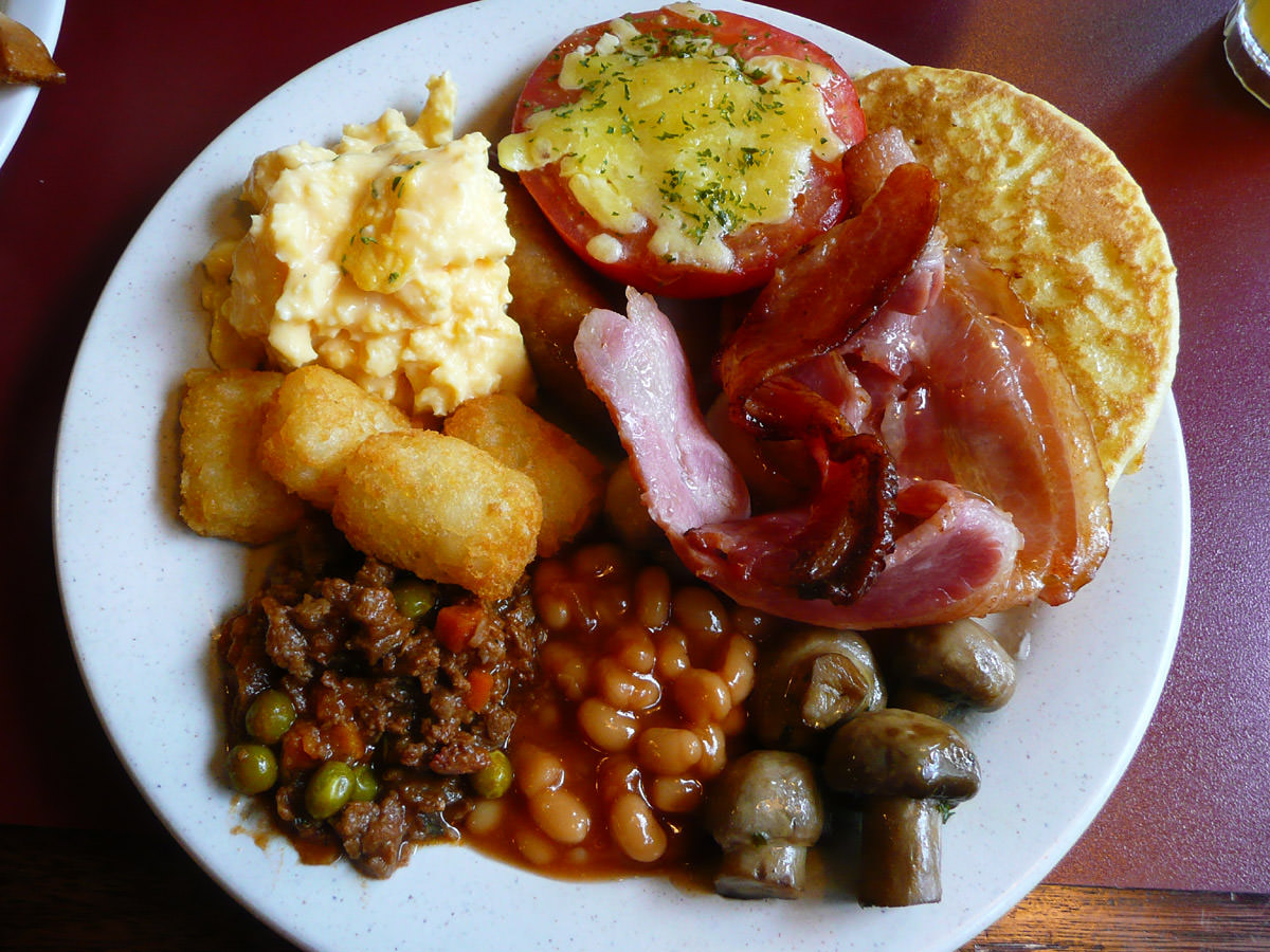 A Sizzler breakfast plate