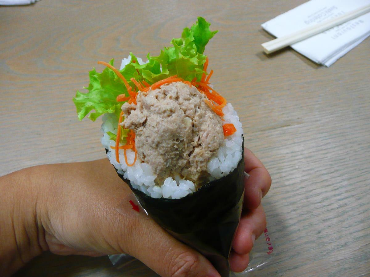 Tuna mayo sushi cone