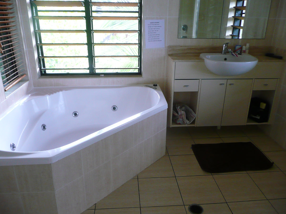 Bathroom with spa bath