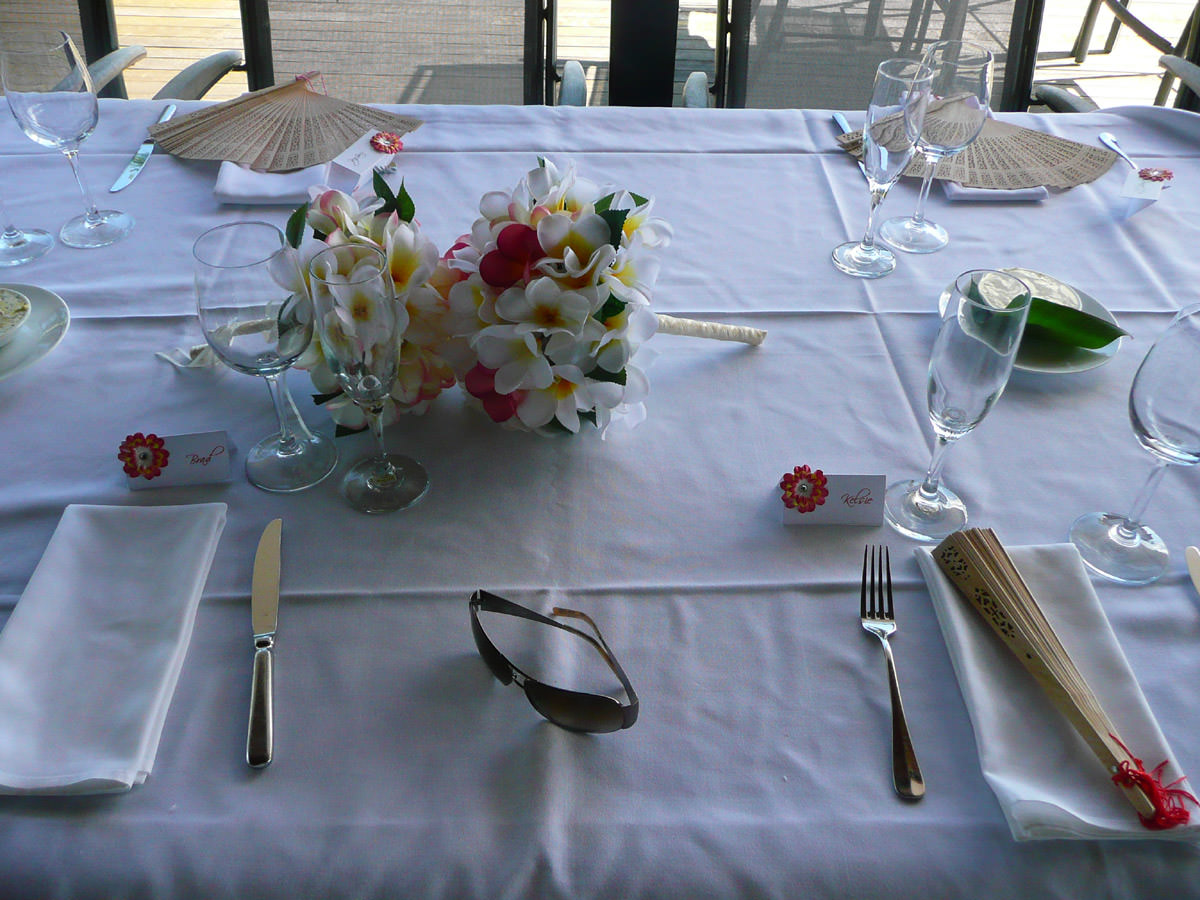 The Bride's place setting