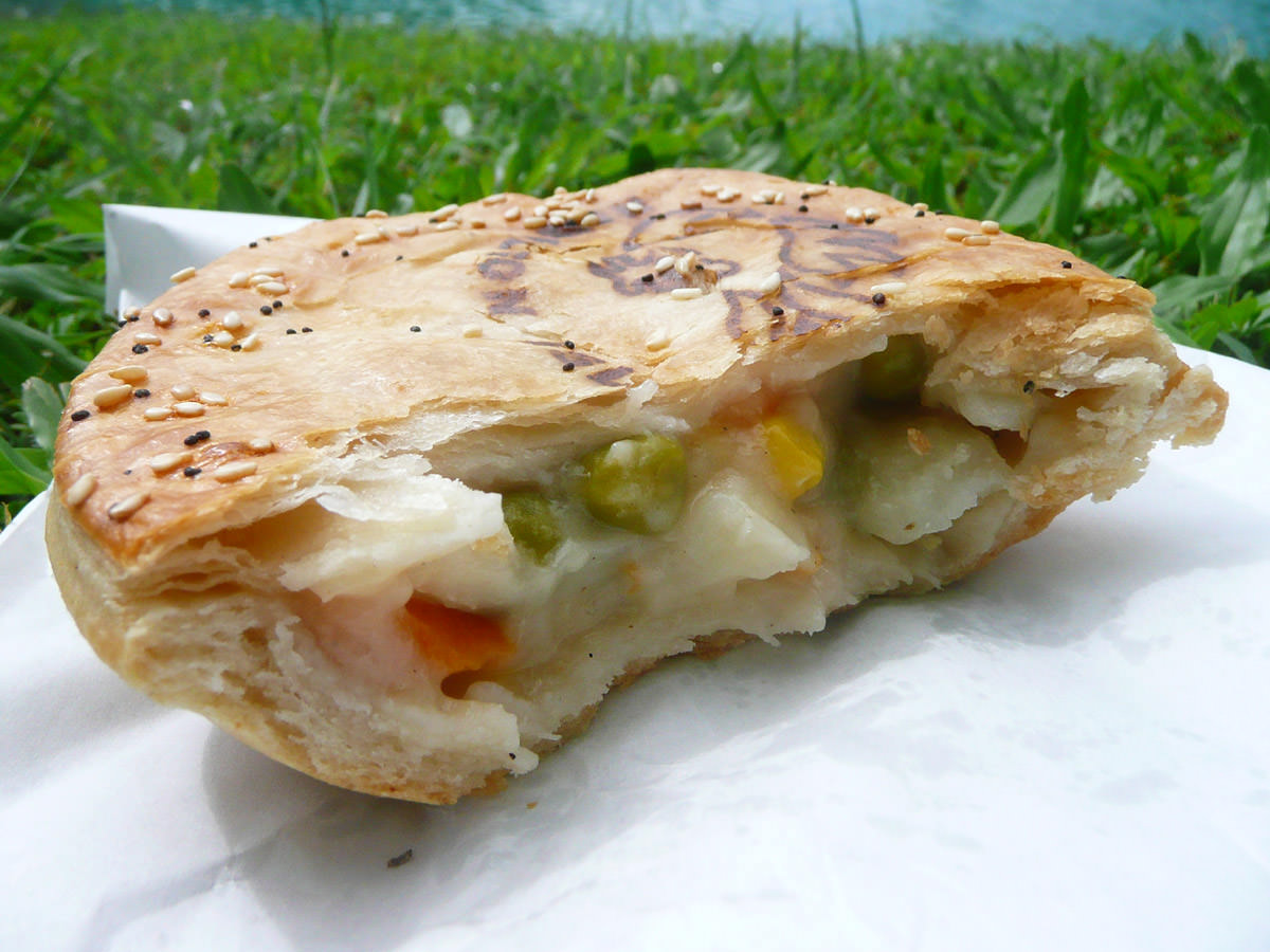 Vegetable pie innards