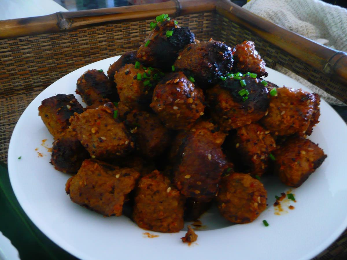 Sweet chilli meatballs