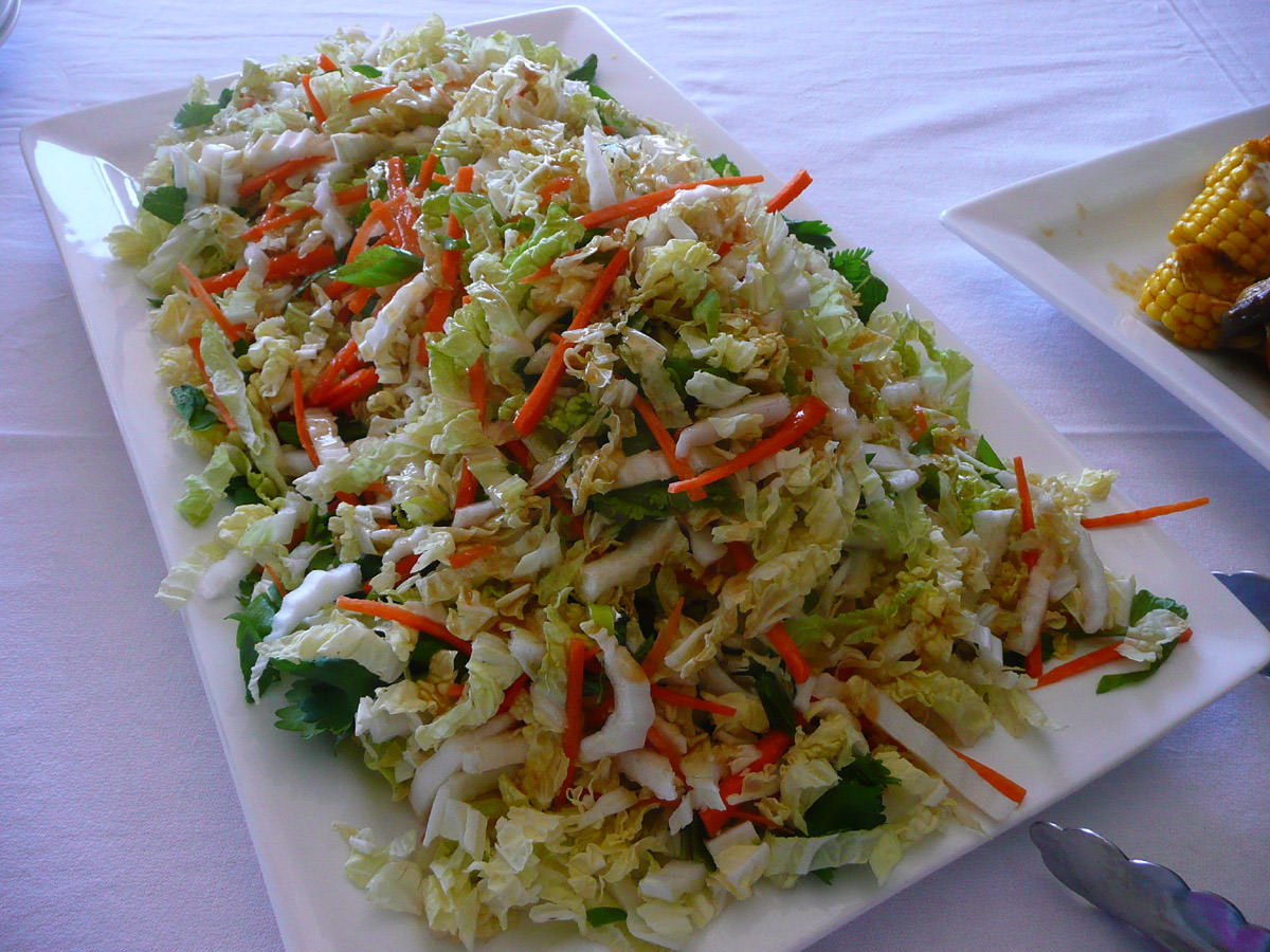 Salad with Asian-style dressing
