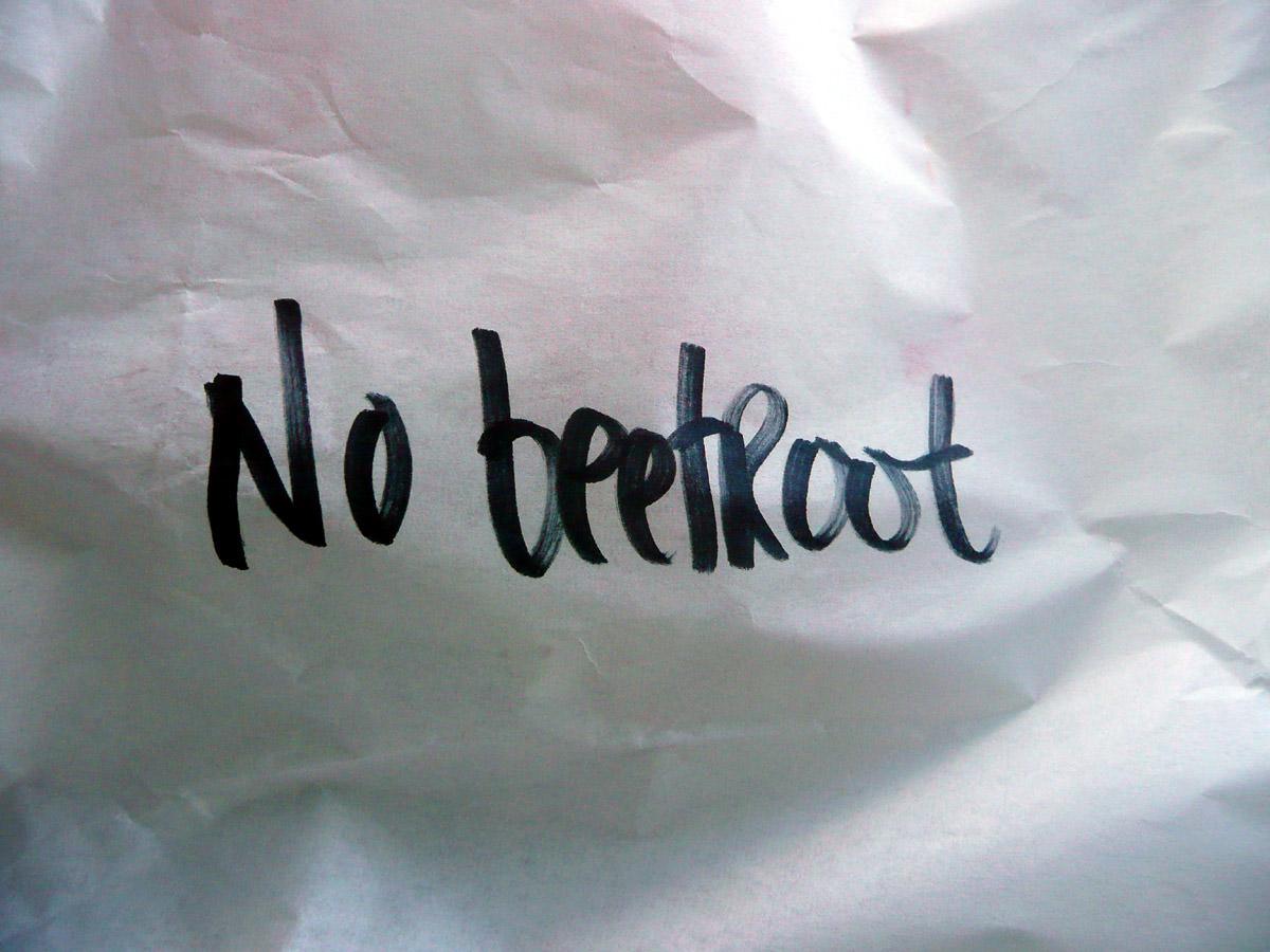 My burger - no beetroot