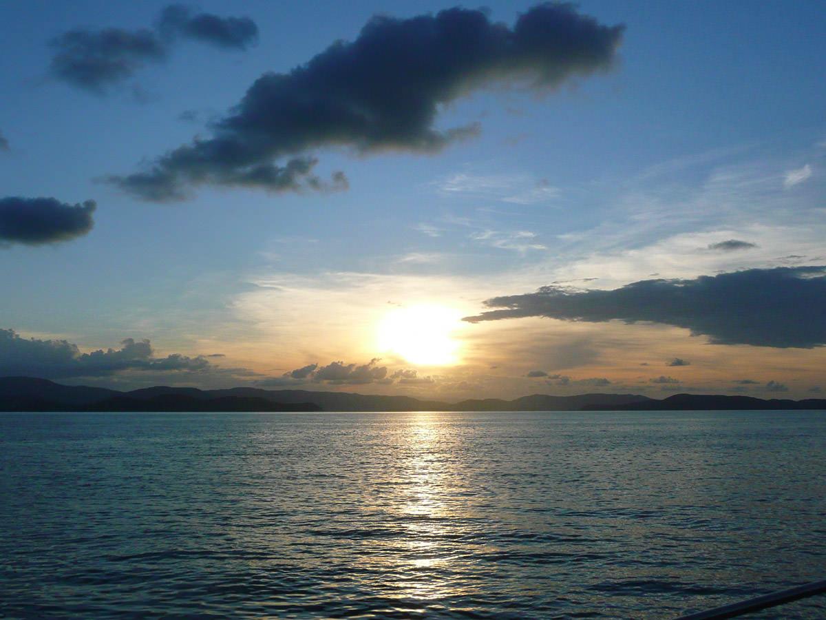 Sunset on the Denison Star