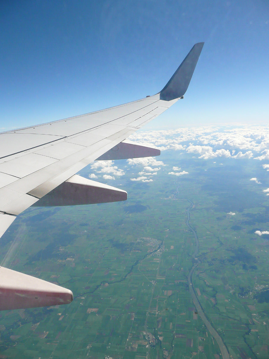 View from the plane over Mackay