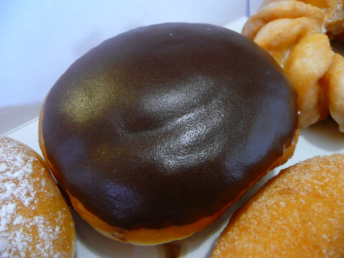 Choc custard doughnut