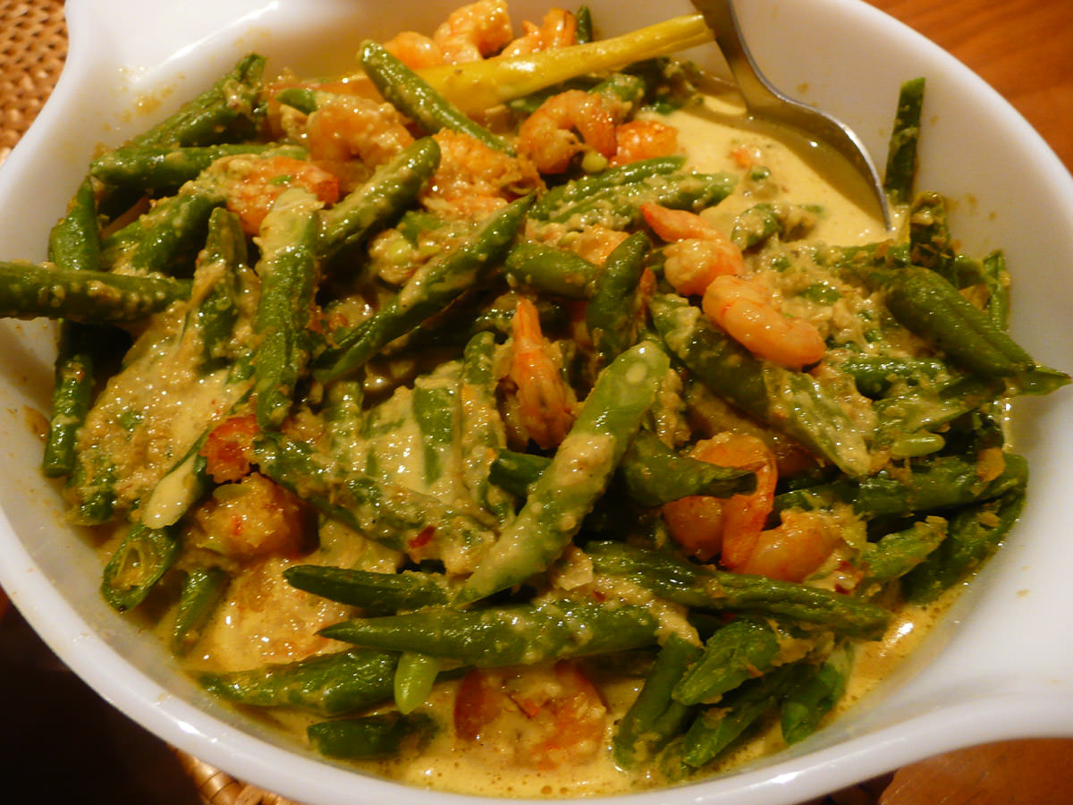 French beans lemak
