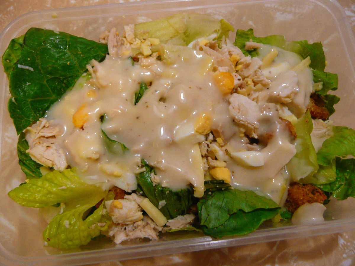 Chicken caesar salad from Charcoal Chicken