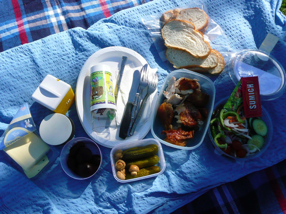 The picnic spread