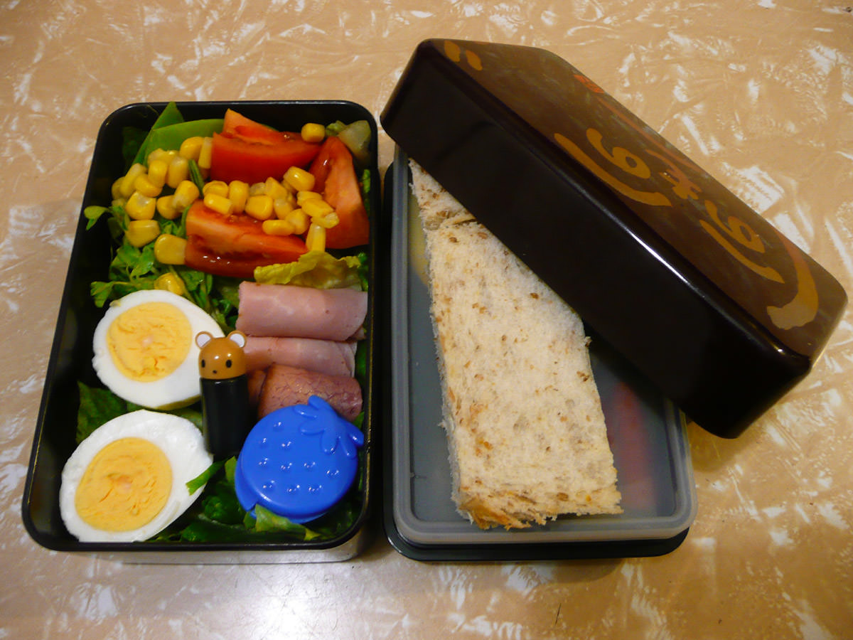 My bento lunch - with bread