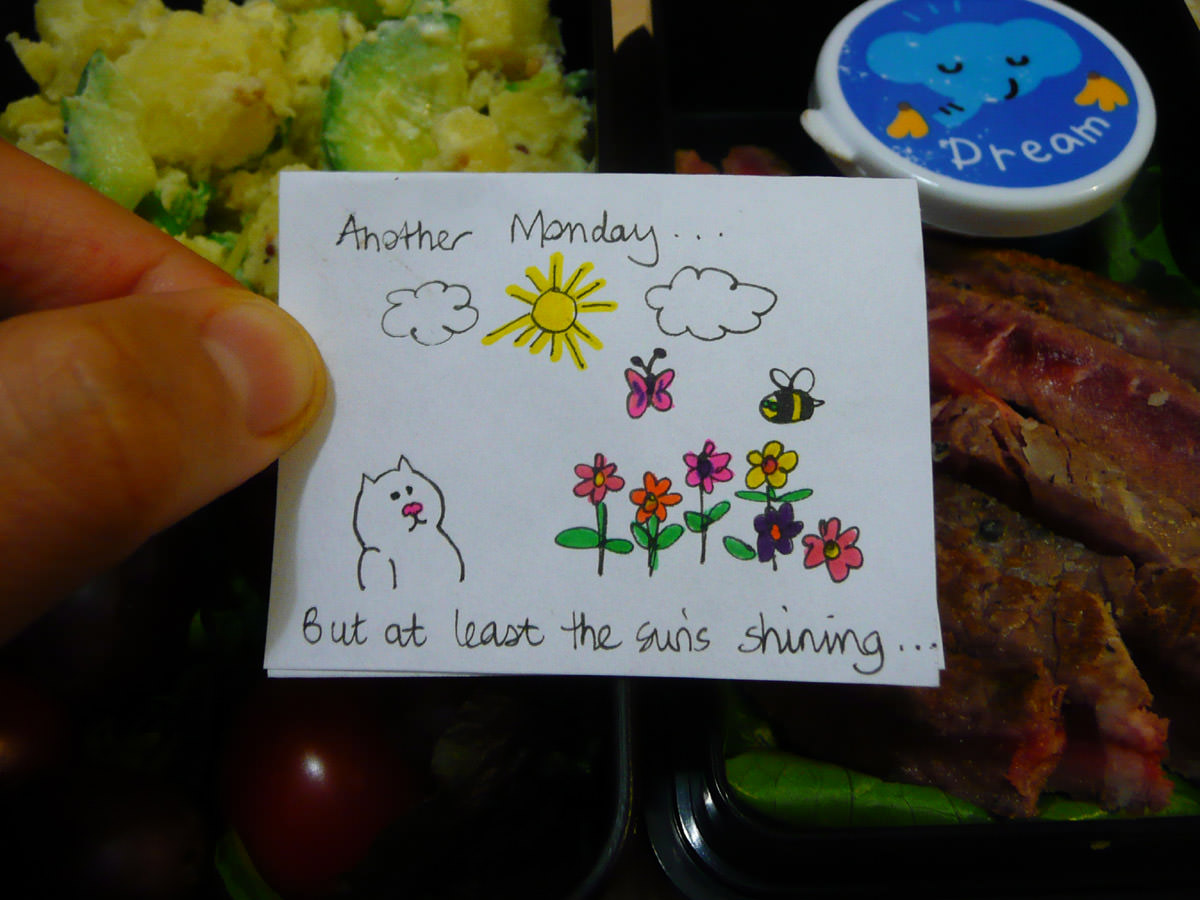 Jac's bento note - Another Monday, but at least the sun's shining