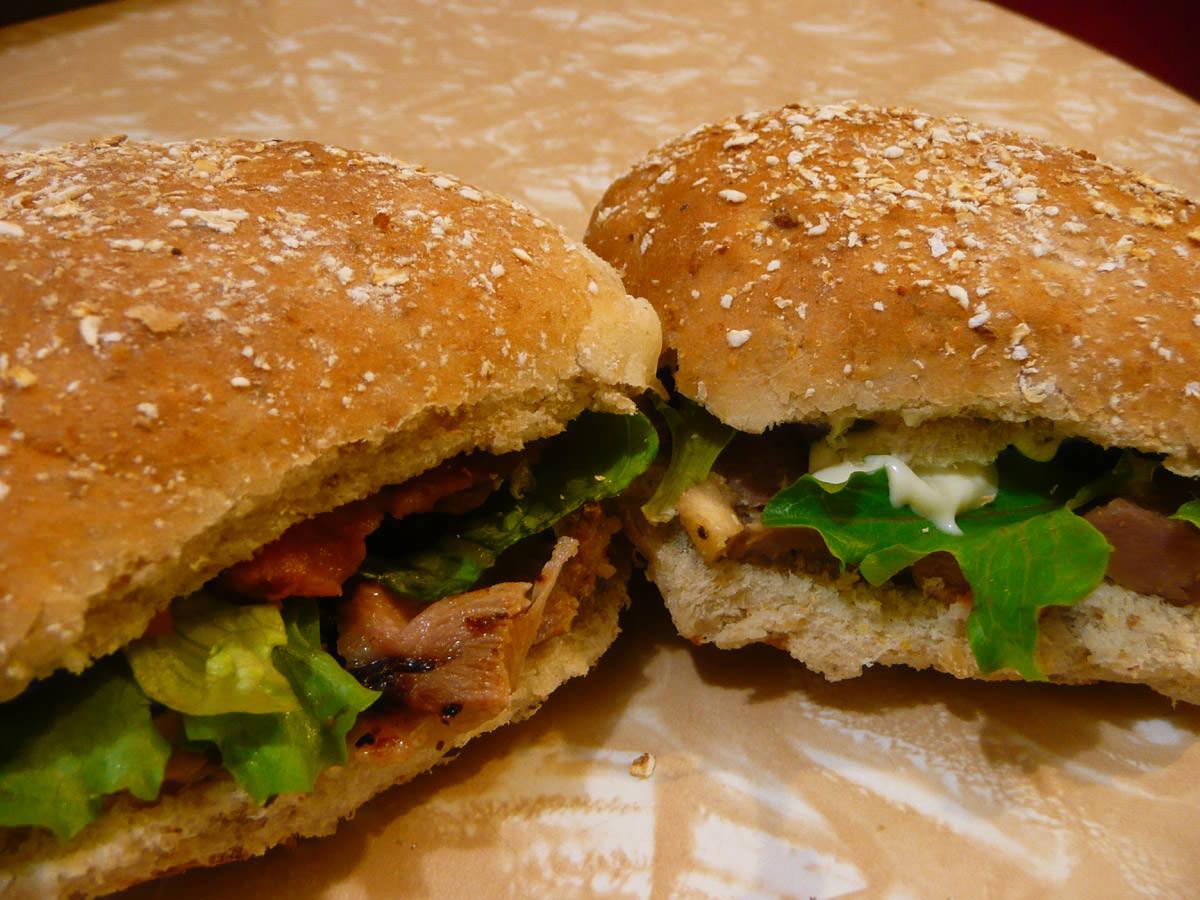 Turkey and salad rolls
