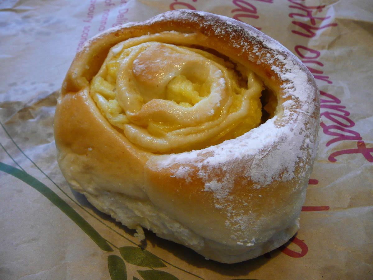 Custard and apple scroll