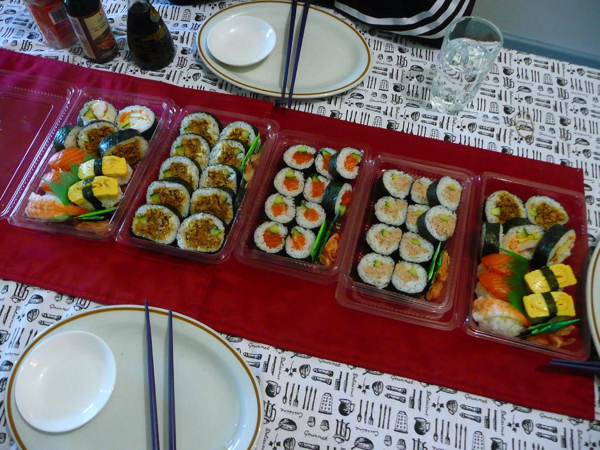 Sushi lunch feast