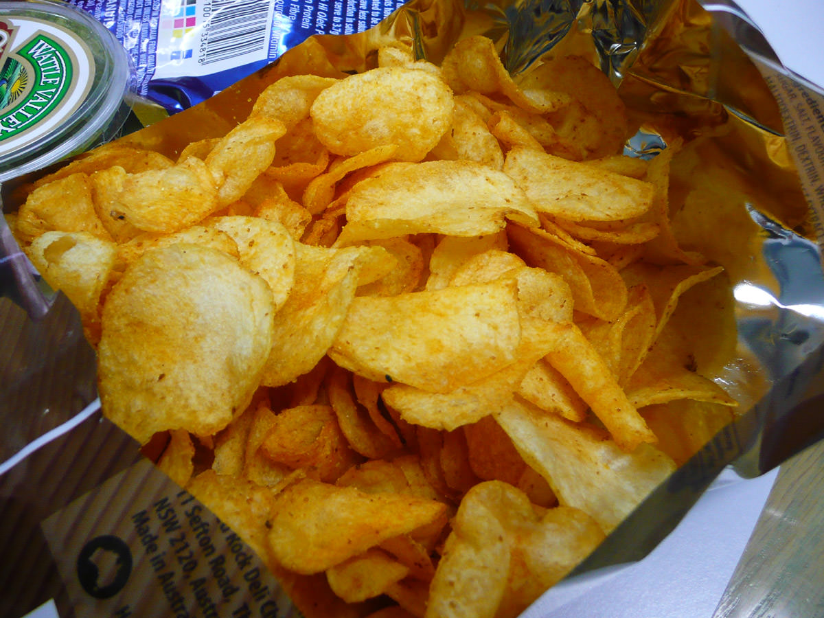 Honey and soy chicken crisps