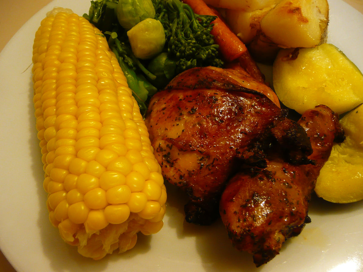 Two of my favourite things - chicken and corn
