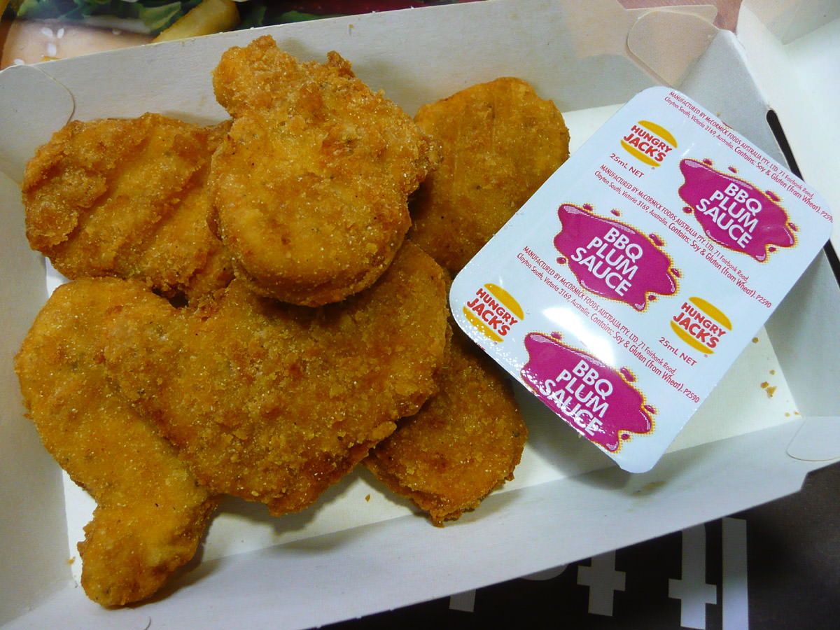 The new Hungry Jack's chicken nuggets