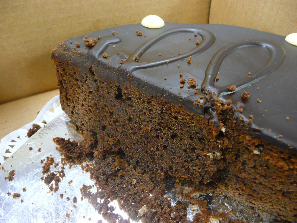 Chocolate cake - innards
