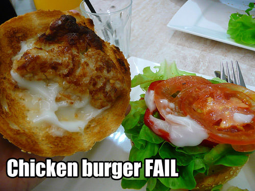 Chicken burger FAIL