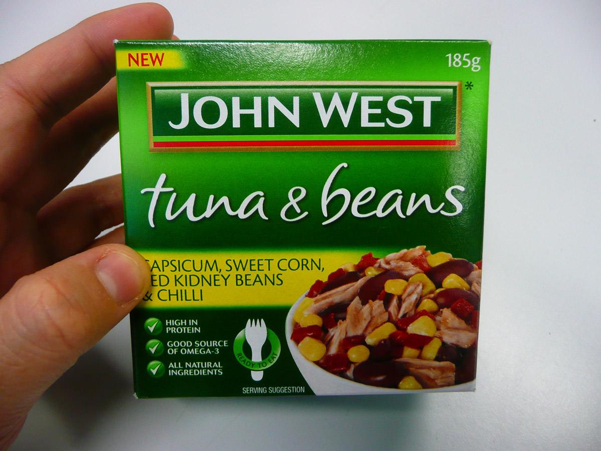 John West Tuna & Beans - the box